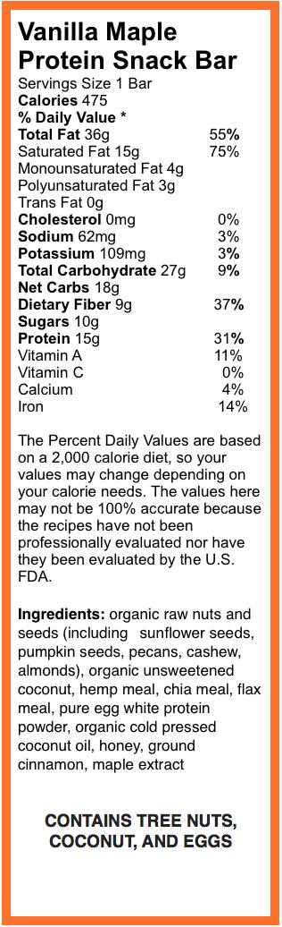Vanilla Maple Protein Snackbar