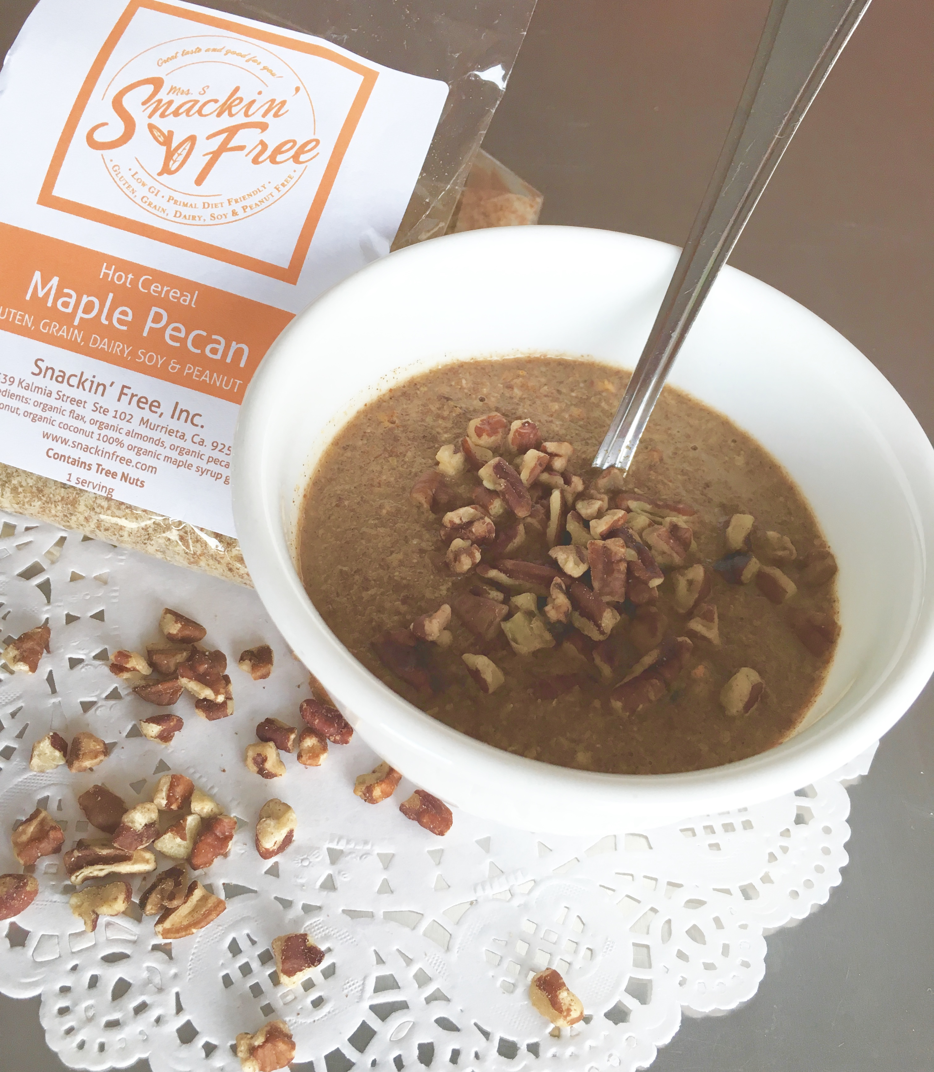 Paleo Maple Pecan Hot Cereal