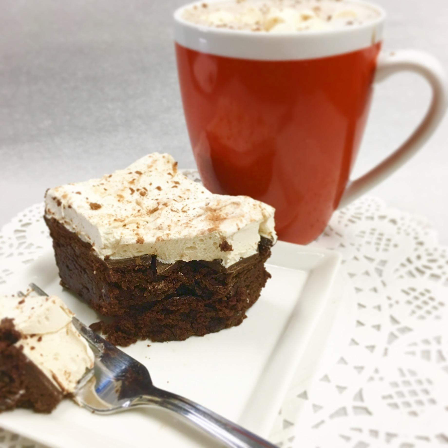 paleo hot chocolate brownies